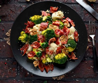 Broccoletti Con Pancetta, Noci E Limone